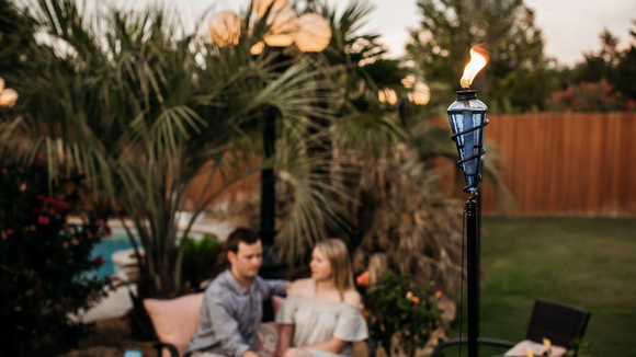 These stunning torches can elevate a backyard event, or add ambience to a casual night at home