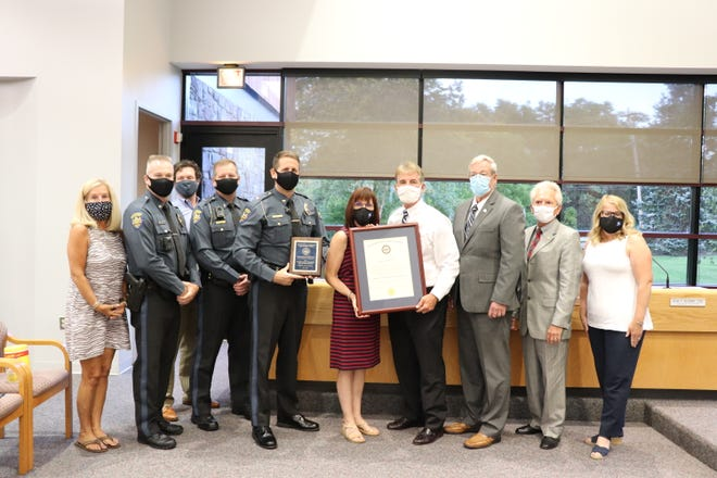 Montgomery Township police accepted their fifth accreditation with the Pennsylvania Chiefs of Police Association.