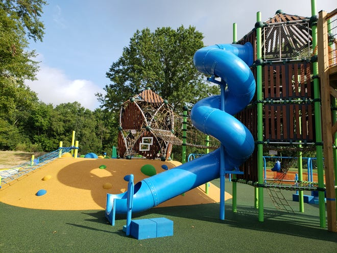 The Kids Mountain playground at Warrington's new Lions Pride Park will open to the public on Oct. 2.