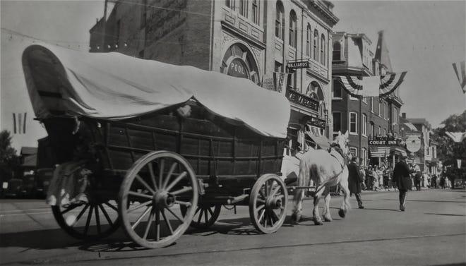 Doylestown's centennial parade in 1938 featured a Conestoga wagon.
