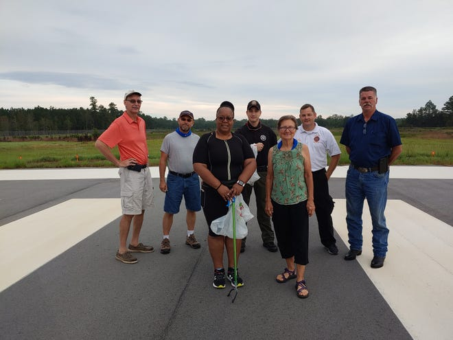 A FOD (foreign object damage) walk was held at Ridgeland-Claude Dean Airport on Aug. 22 with only a few participants because of COVID-19. The group helped remove debris from the runways and other areas in conjunction with South Carolina Aviation Week, which was observed Aug. 15-22.