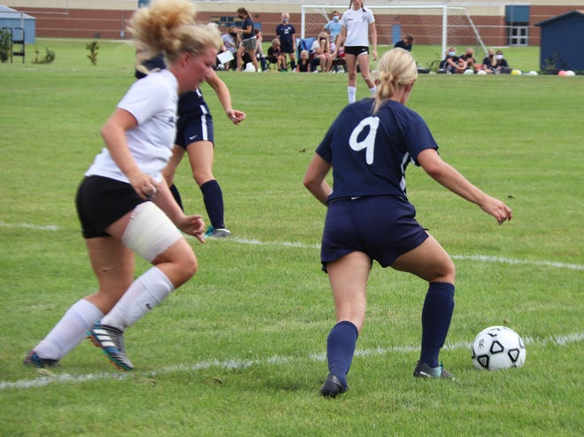 Clara Meyer had good ball control and distribution against Hillcrest Lutheran, according to Crookston head coach Sarah Reese. The Pirates fell to the Comets, 1-0.