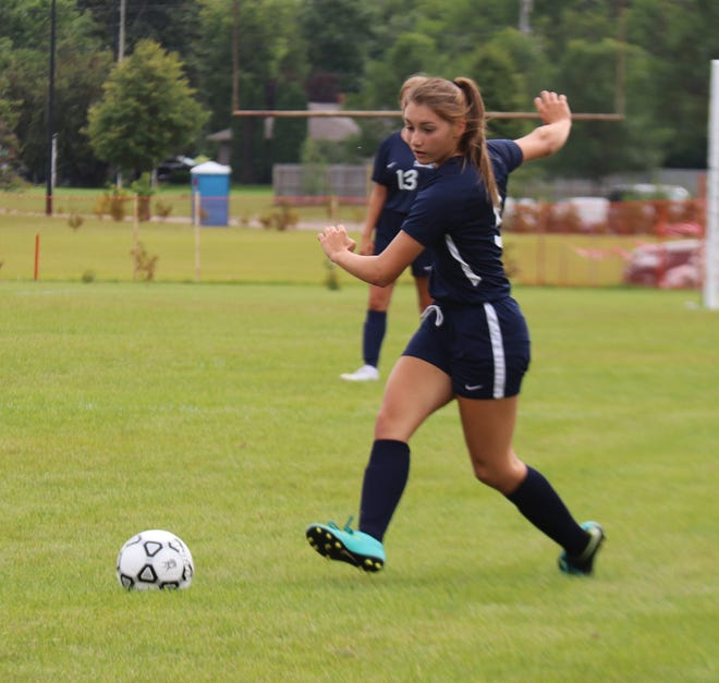 Kailee Magsam, in her first year playing soccer, has been a key contributor for the Crookston girls' soccer team.
