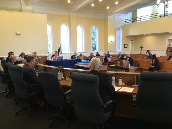 The Randolph County Board of Commissioners held a special public hearing Monday night in the historic courthouse in downtown Asheboro.