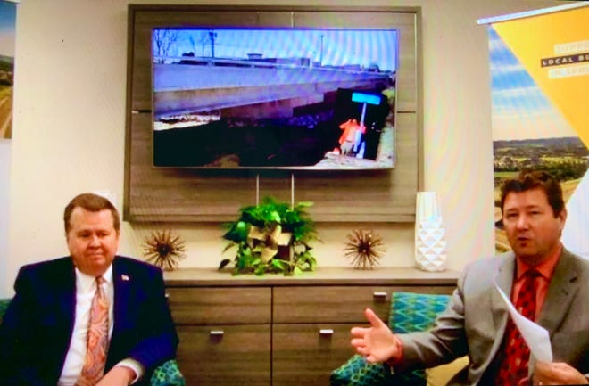 From left, Mayor Rick Graham and City Administrator Victor Lay deliver the annual Spring Hill State of the City Address via Zoom, which discussed how the city has coped with COVID-19, roadway projects and the upcoming April 2021 election. (Screen capture)
