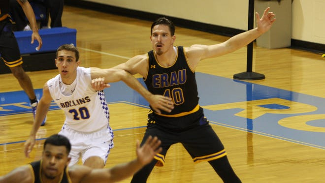 ERAU men's basketball standout Luka Majstorovic (40) signed a contract to play professional in Spain.