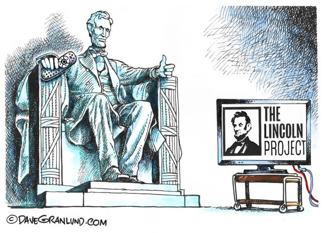 Granlund cartoon: Lincoln's approval