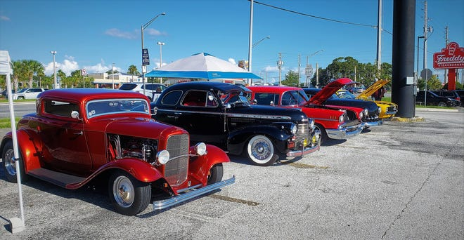 A recent Friday night cruise-in held by Clay County Cruzers.
