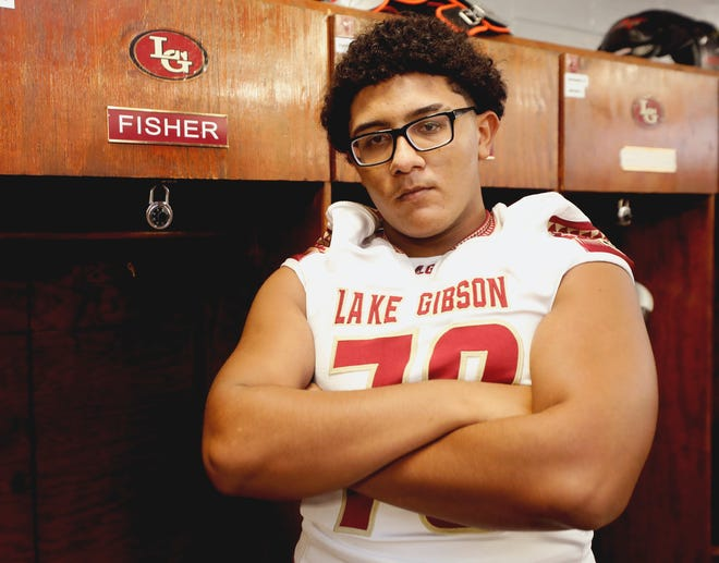 Lake Gibson's Marcus Fisher is capable of playing any position along the offensive line and is one of the top offensive linemen in Polk this year.