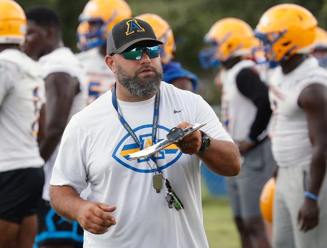 Auburndale head coach Kyle Sasser led his team to a win in the Billy Deeds 7-on-7 Tournament over the weekend.