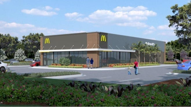 McDonald's will build a 24-hour restaurant at the busy shopping plaza across the street from Gleneagles Country Club on West Atlantic Avenue. (Provided by McDonald's)