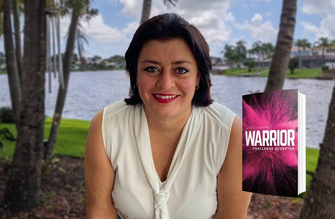 """Jessica Duemig is a former Wellington resident who recently published a book titled """"Warrior,"""" written about her experience as a 32-year-old battling breast cancer."""