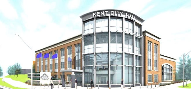 Artists rendition of new Kent City Hall.