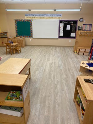 New flooring at the Gan at Temple Sinai in Sarasota.