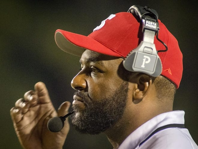 Seventy-First football coach Duran McLaurin and the Falcons will start football season in February this season, coming on the heels of basketball season, which ends its regular season on Feb. 19.