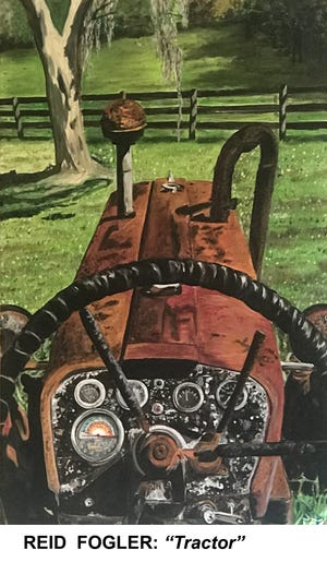 """Tractor"" is part of the newest exhibit from Sweetwater Print Cooperative titled ""Works from Reid Fogler."" This is an exhibition of Fogler's oil paintings from the past year. The show opens tonight from 7 to 10 p.m."