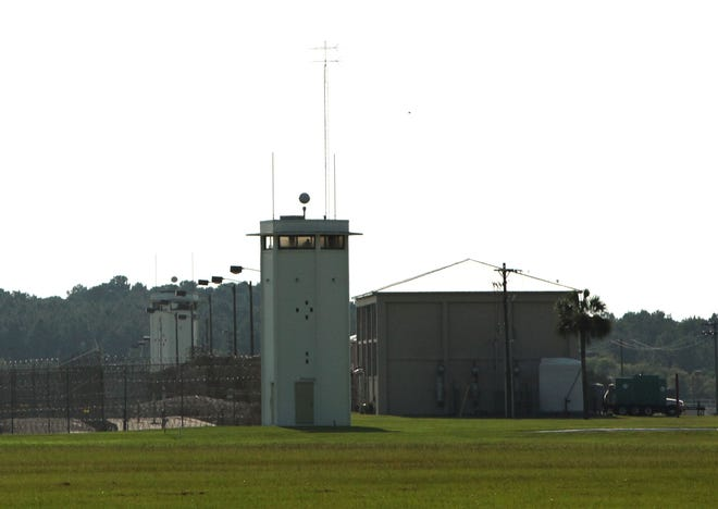 The outside of Florida State Prison in Raiford.