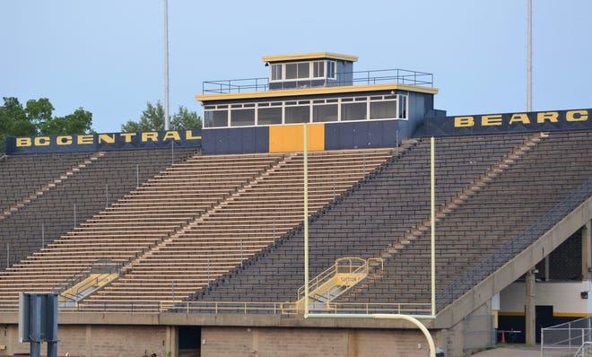 Like an empty C.W. Post Field, local high school football stadium will remain quiet during what was supposed to be the first week of a season now postponed by the MHSAA due to  COVID-19.