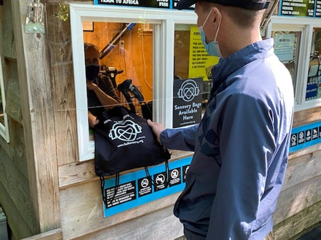 KultureCity sensory inclusivity bags, including noise-canceling headphones and fidget devices, are now available for free rental at Binder Park Zoo in Battle Creek.