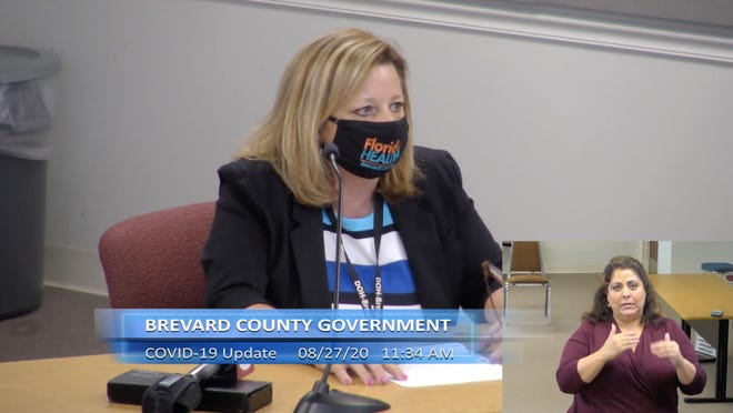 Florida Department of Health Brevard Administrator Maria Stahl speaks at a meeting Thursday, Aug. 27, 2020.