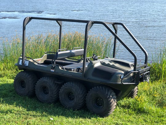 Monroe fights litter with a state-funded, amphibious all-terrain vehicle