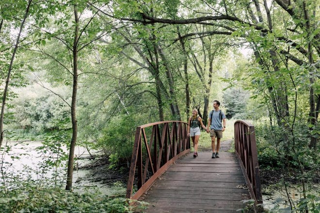 Explore 10 miles of paved and natural surface trails at Bunker Hills Regional Park.