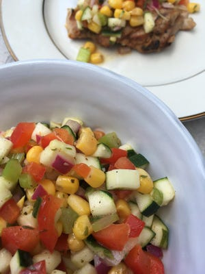 Corn and Zucchini Relish pairs two summer favorites.