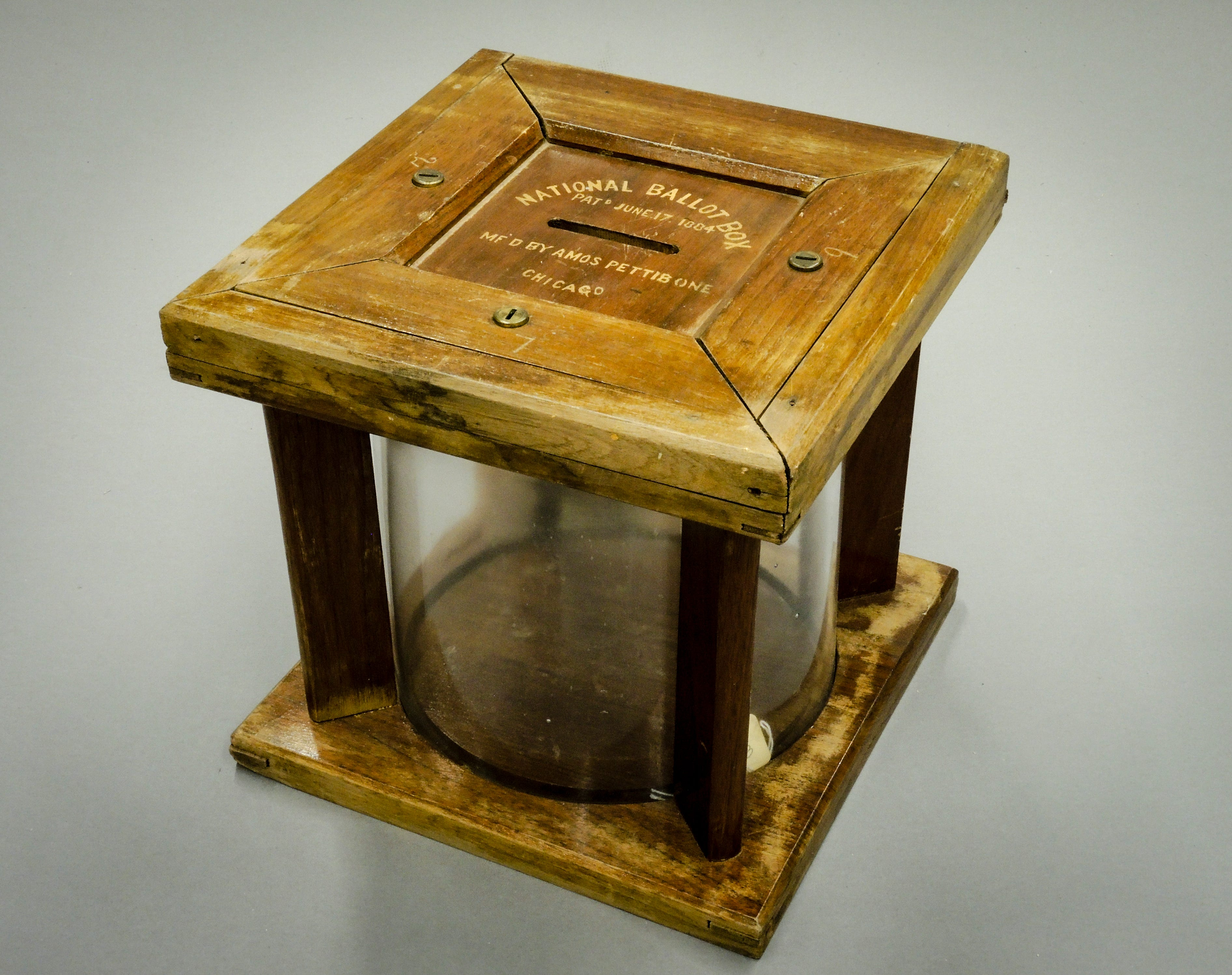 An 1884 general election ballot box from Costilla County, Colorado. The box dates back to just under a decade before Colorado women earned the right to vote through by public referendum.
