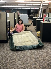 Reporter Leigh Guidry camped out at The Daily Advertiser newsroom in Lafayette, Louisiana, as Hurricane Laura made landfall in the early hours of Aug. 27, 2020.