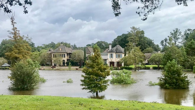 The Vermillion river at River Ranch. Lafayette residents are pleased that Hurricane Laura only caused minor damage in the Lafayette area. Thursday, Aug. 27, 2020.