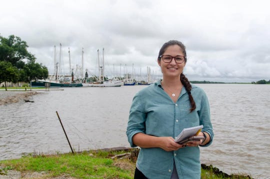 Reporter Leigh Guidry reports on Hurricane Barry from Itracoastal City, Louisiana, in July 2019.