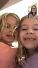 Reporter Leigh Guidry FaceTimes her daughters hours before Hurricane Laura made landfall in southwest Louisiana. Her husband and children evacuated to family near Baton Rouge, but Guidry stayed in Lafayette, Louisiana, to report on the storm that hit Aug. 27, 2020.