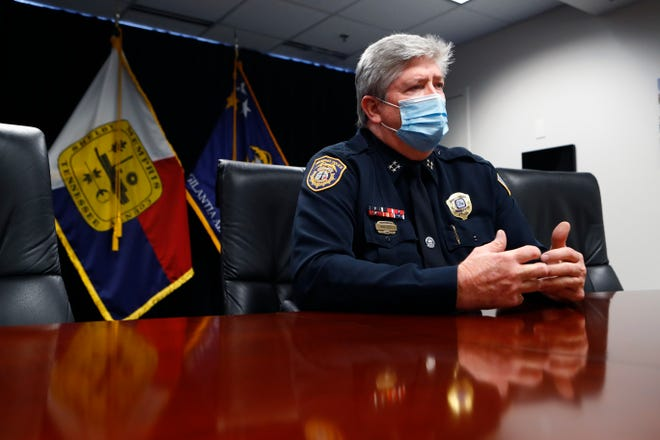Memphis Police Department Deputy Director Mike Ryall speaks to The Commercial Appeal from a conference room at the Donnelly J. Hill State Office Building on Aug. 27.