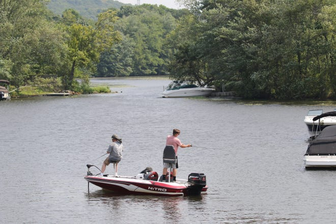 Spending the afternoon fishing off of Espanong Rd. on Lake Hopatcong in Jefferson, NJ on August 27, 2020.