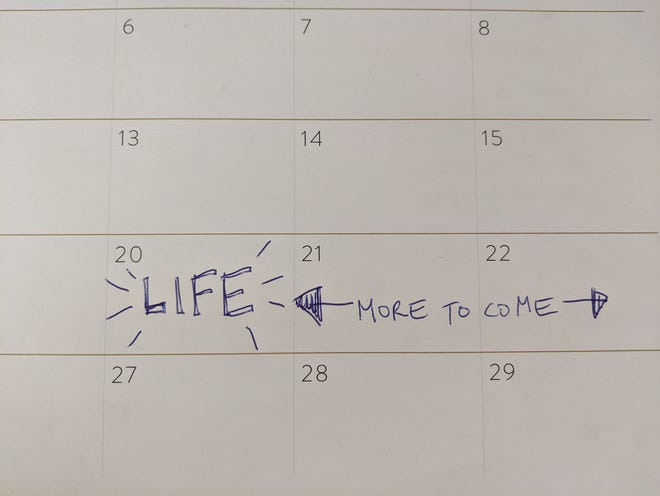 Abbey is forcing herself to get back into the habit of actually planning events on a calendar.
