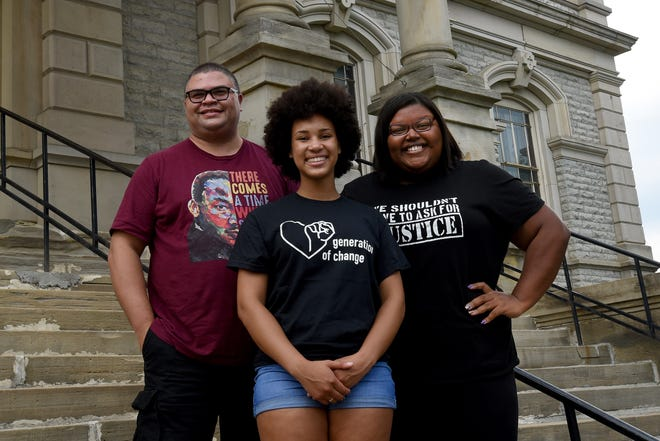 The Licking County NAACP has been revived with vice president Jeremy Blake, treasurer Jadyn Paige and president Bryanna Stigger  (left to right).