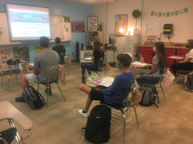 Carah Casler's students began their first-period class of the new school year on the early morning of Aug. 27.