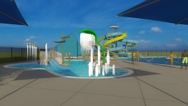 Renderings show what the Brandon pool will look like when it's scheduled to open Memorial Day weekend, 2021.