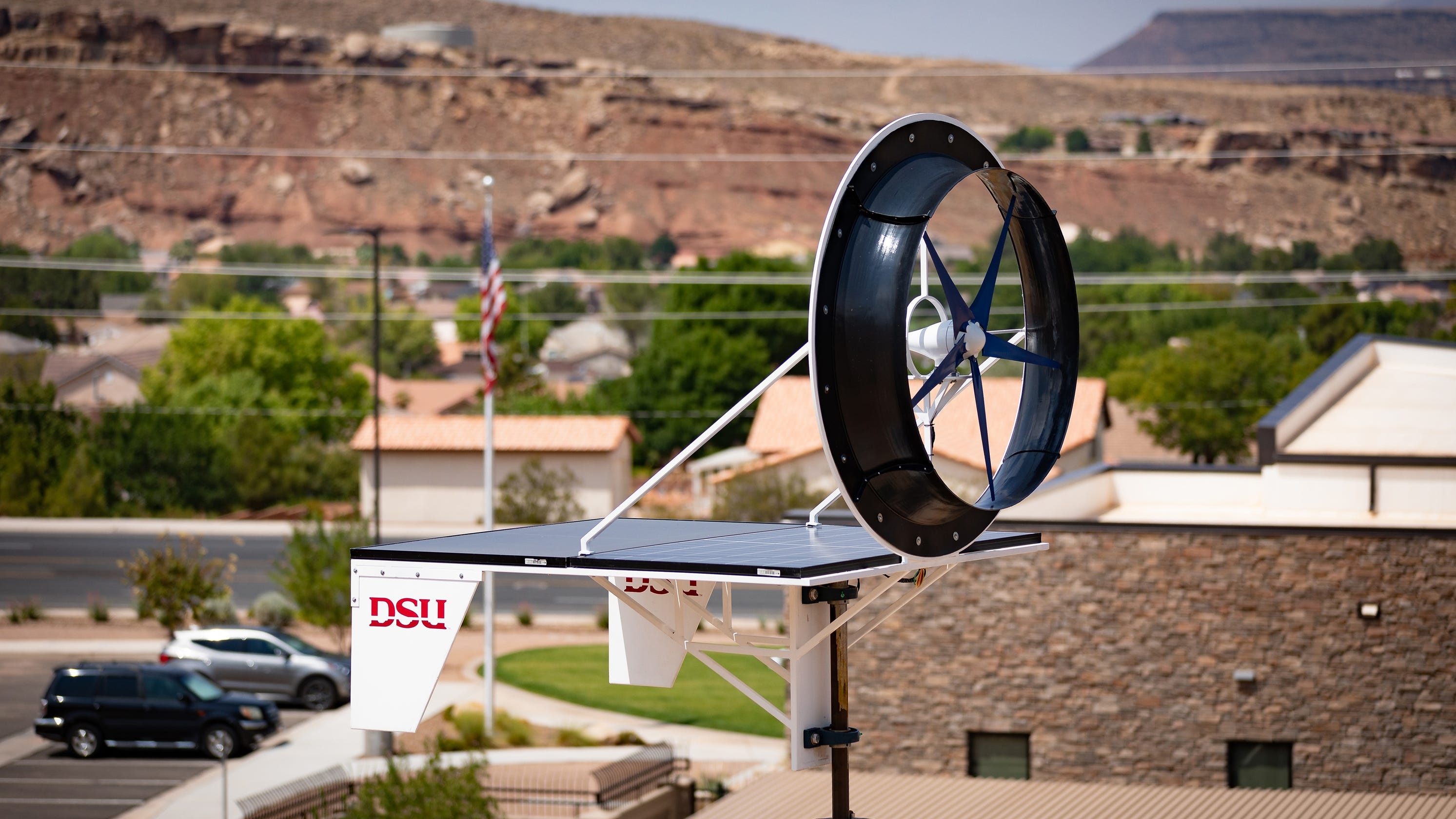 Solar-wind turbine developed at St. George university to help power southwest Utah