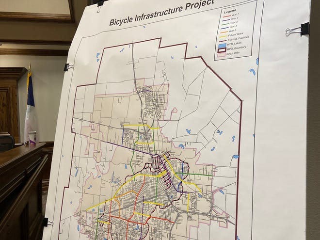 Wichita Falls is proposing a five-year plan to create more than 22 miles of shared and dedicated roadways for bicyclists. The move would aid in the city's continued designation as a bike-friendly city.