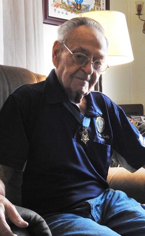 Ronald Rosser sports the Medal of Honor he received for his heroic actions as a soldier in the U.S. Army during the Korean War.