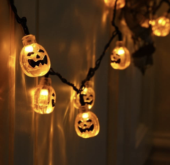Trick-or-treaters are sure to enjoy these lights.