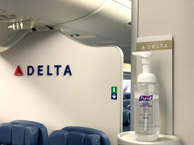 Delta Air Lines is adding in-flight hand sanitizer stations outside the bathrooms on its planes.