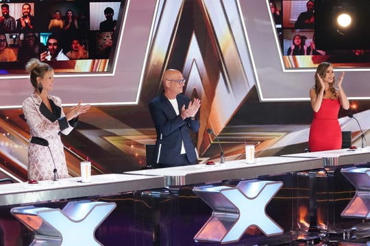 """America's Got Talent"" judges (l-r) Heidi Klum, Howie Mandel and Sofia Vergara."