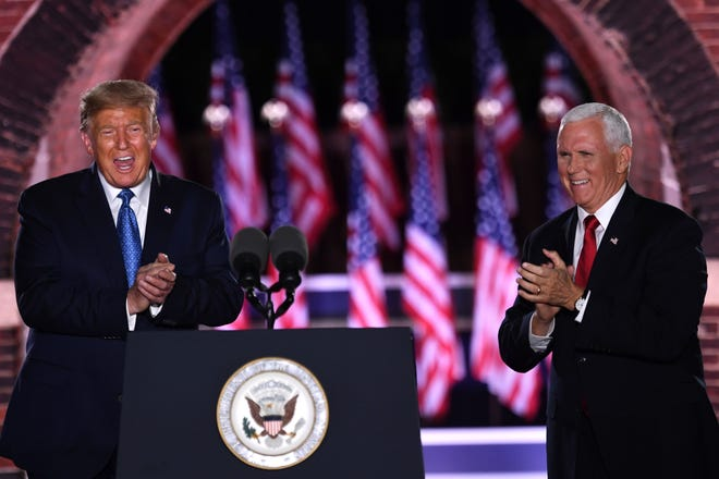 President Donald Trump and Vice President Mike Pencewrap up the third night of the Republican National Convention at Fort McHenry National Monument in Baltimore, Maryland.
