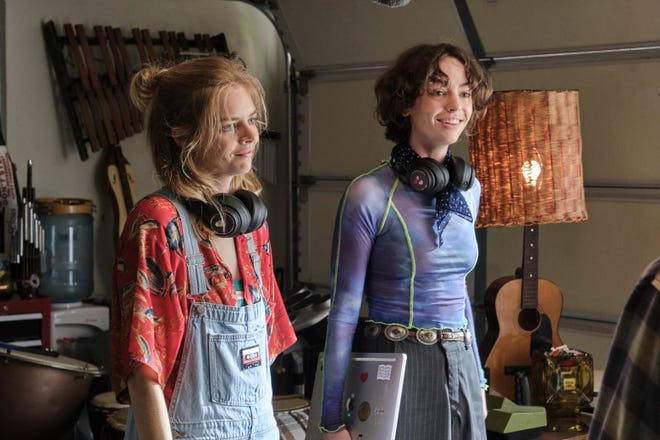 """Thea (Samara Weaving, left) and Billie (Brigette Lundy-Paine) play important roles in the finale of """"Bill & Ted Face the Music."""""""