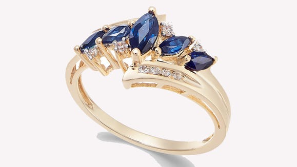 This ring also comes with ruby, emerald and tanzanite stone options.