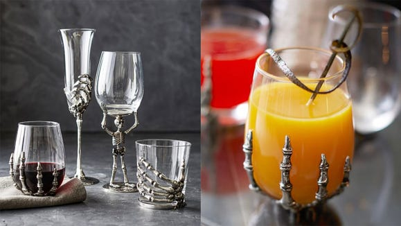 These skeleton glasses are a creepy cool addition to your collection.