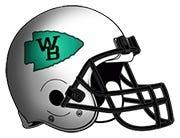 West Branch football helmet