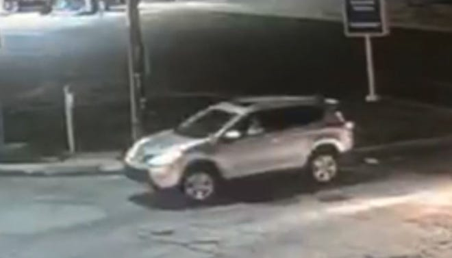 Lower Southampton police said this car was involved in a hit and run Wednesday.